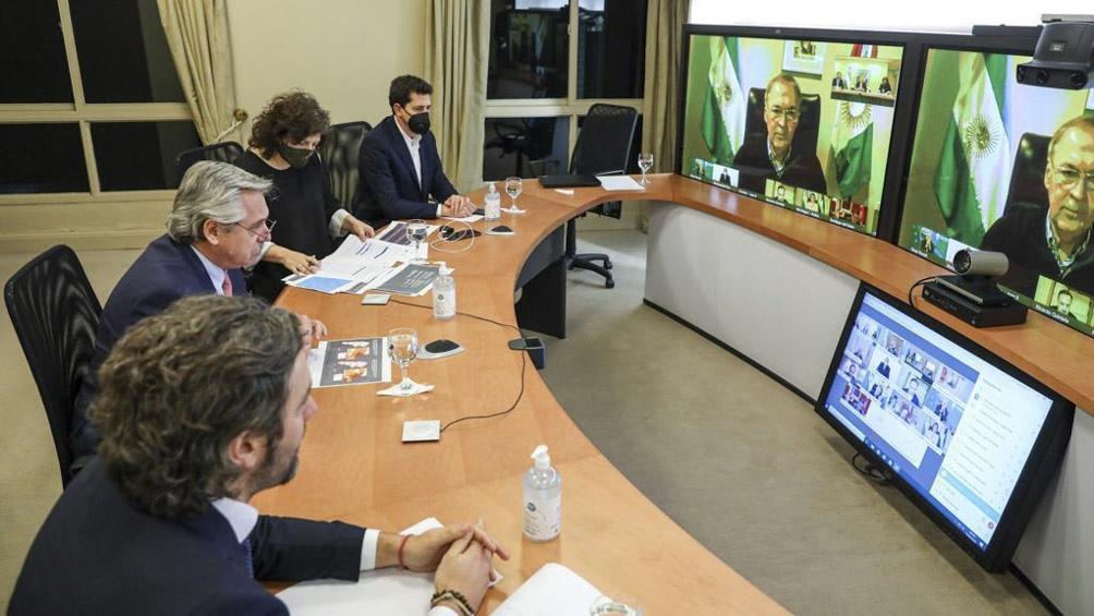 Videoconferencia de Alberto Fernández con gobernadores