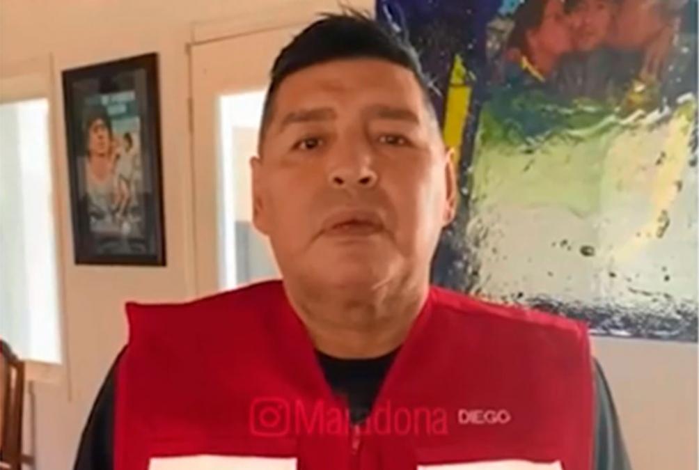 Maradona fue convocado por el presidente de la Conmebol y aceptó el desafío  (Foto: IG Maradona)