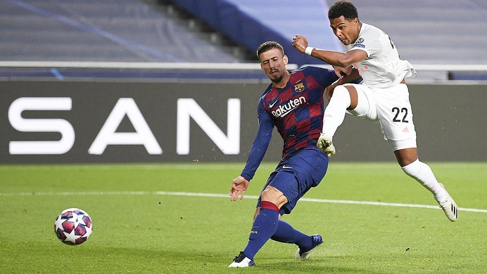 Gnabry anota el tercero de los alemanes ante Barcelona, en una goleada histórica