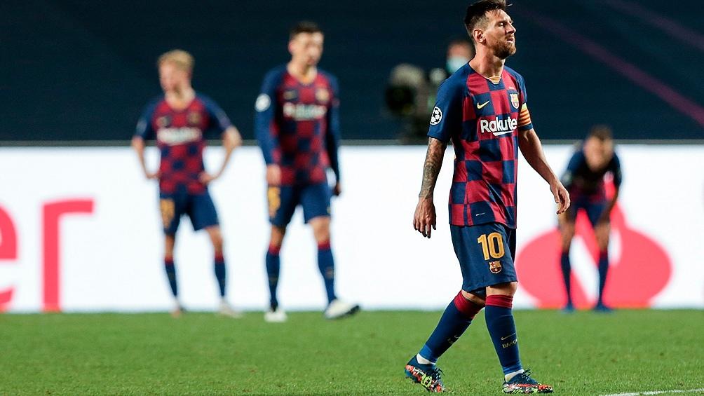 La aplastante derrota ante el Bayern Munich por la Champions puso en suspenso la continuidad de Messi en el Barcelona.