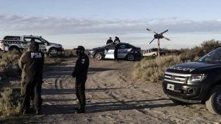 Los restos óseos hallados quedaron a resguardo de Policía Federal