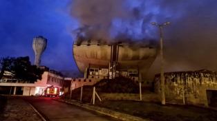 Incendio en una sala teatral del complejo del Casino de Necochea