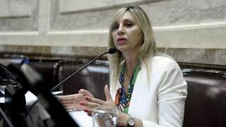 Presidenta de la Comisión de Asuntos Constitucionales, María de los Ángeles Sacnun,