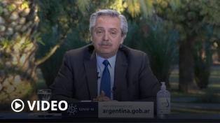 """Fernández dijo que el Gobierno nacional está dando """"otro paso"""" después """"de dos pandemias"""""""