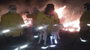 Brigadistas del Plan de Manejo del Fuego se suman al combate del incendio en las islas del Paraná
