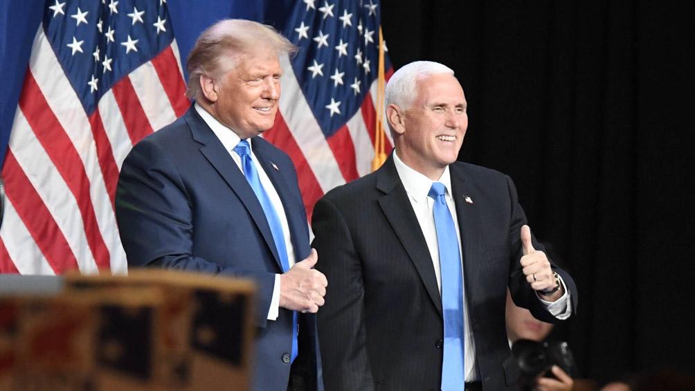 Trump y Pence nuevamente compartirán fórmula presidencial