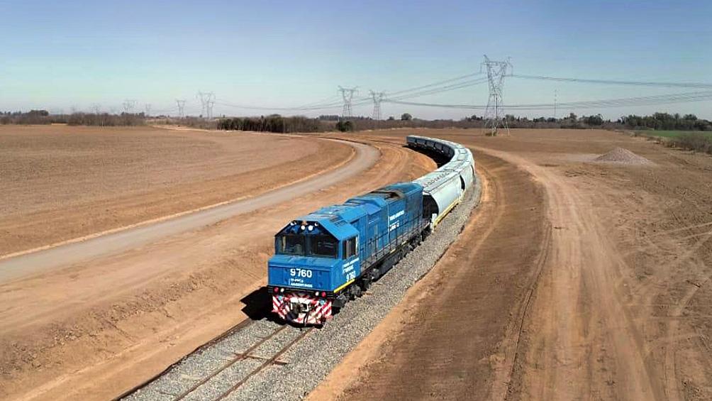 El transporte ferroviario de cargas tuvo obras por 122 millones de pesos.