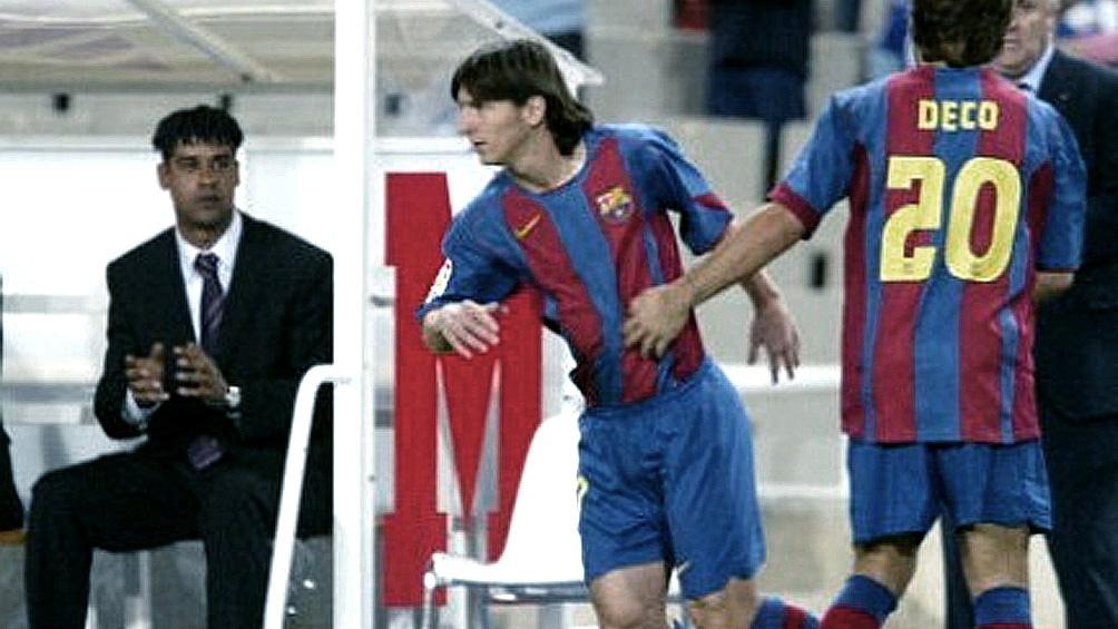 El debut de Messi bajo de la mano del holandés Rijkaard. Foto: archivo