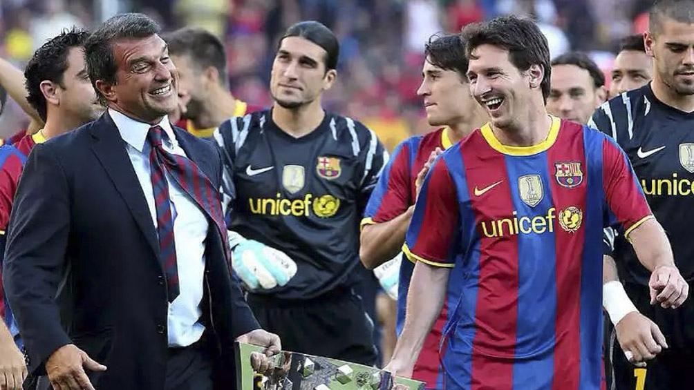 Laporta ganó las elecciones y comienza el operativo para la continuidad de Messi