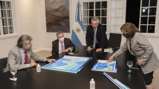 Fernández destacó el trabajo para aprobar las leyes de Espacios Marítimos y el Consejo de Malvinas