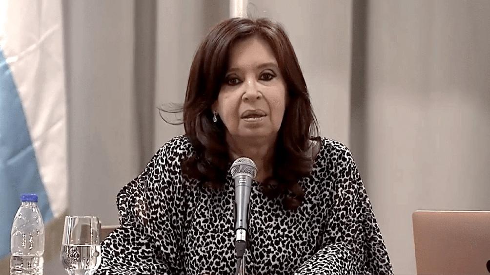 La vicepresidenta envío un mensaje a la peña del Instituto Patria