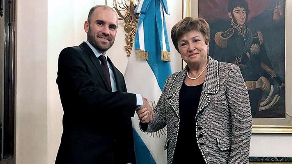 """Georgieva destacó """"la muy buena conversación"""" que mantuvo con el presidente"""