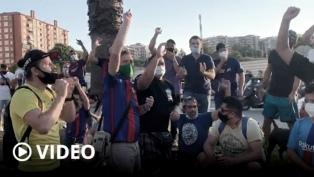"""""""¡Messi quédate!"""", el pedido de los hinchas del Barcelona en el Camp Nou"""