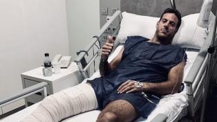 Del Potro fue operado de la rodilla por tercera vez
