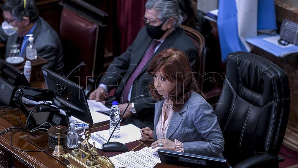 Cristina Kirchner, en el inicio de la sesión