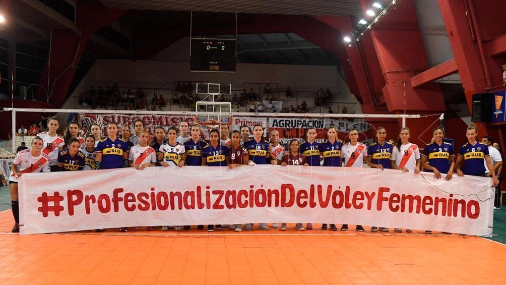 La Liga Argentina comienza y también el pedido de las jugadoras de profesionalización e igualdad (foto archivo)