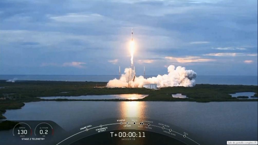 El satélite argentino Saocom 1B, despegó desde Cabo Cañaveral, en Estados Unidos
