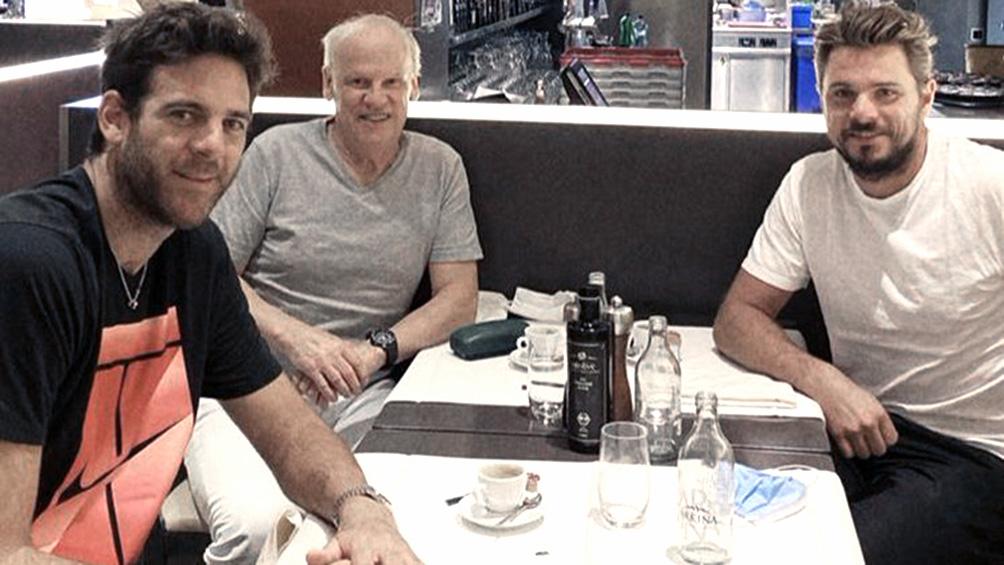 Del Potro recibió la visita de Wawrinka en Suiza