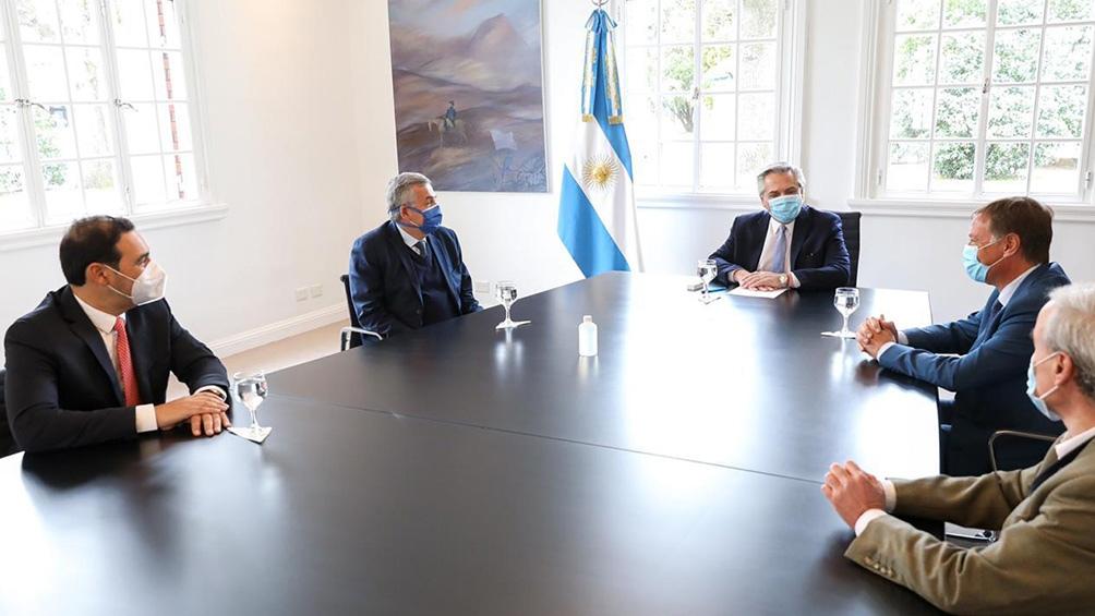 Del encuentro también participó el secretario General de la Presidencia, Julio Vitobello