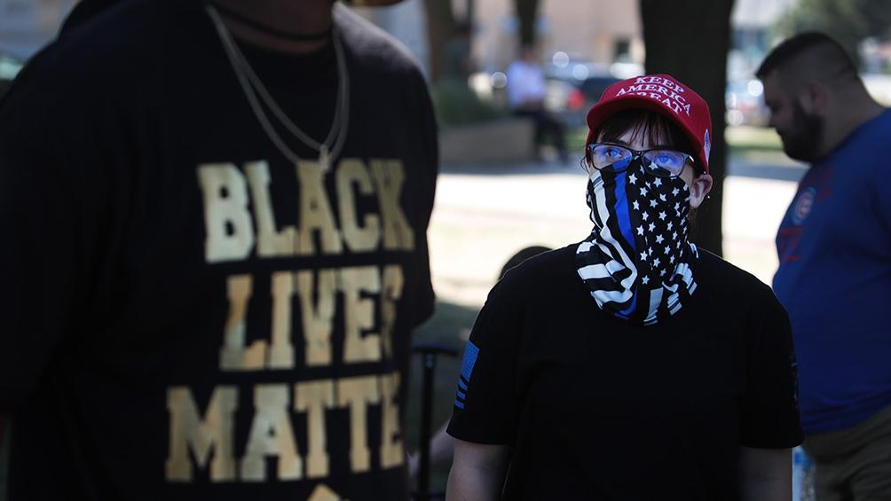 Una de las manifestaciones contra el racismo y la violencia policial.