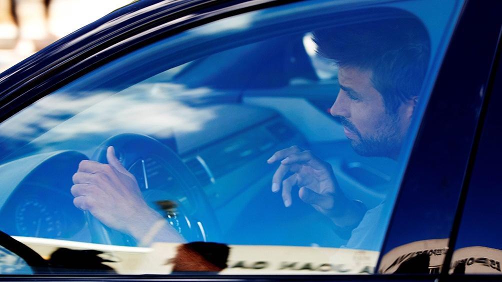 Gerard Piqué al llegar al entrenamiento de este lunes.
