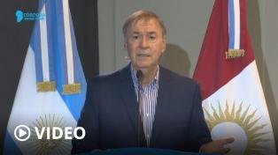 Schiaretti: �Córdoba no retrocede de fase y va a seguir con todas las actividades�
