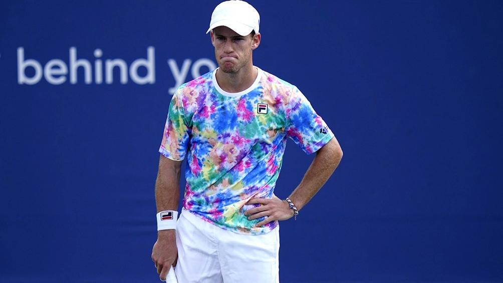 Después de ganar los dos primeros sets, Schwartzman decayó físicamente.