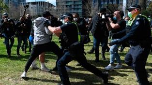 Protestas contra las restricciones en Australia dejan 26 detenidos