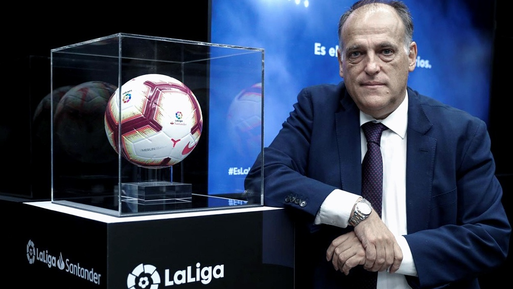Javier Tebas, presidente de la Liga española.