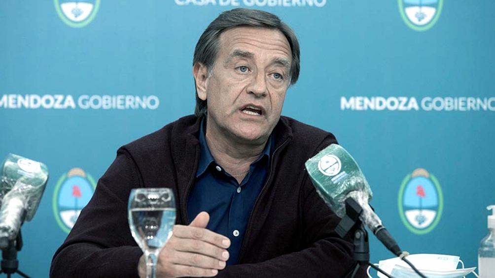 """El gobernador de Mendoza, Rodolfo Suárez, admitió hoy que """"el sistema de salud está estresado y tiene un límite"""""""
