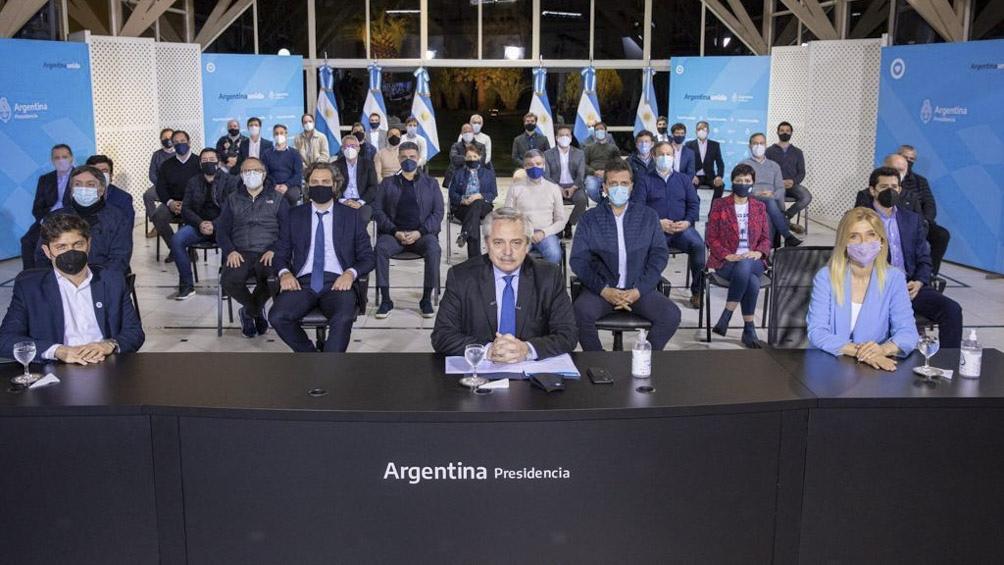 Intendentes mostraron su apoyo al anuncio presidencial