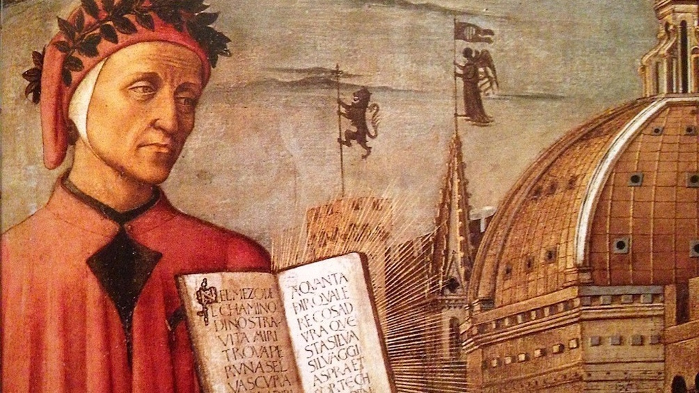 Una pintura de la época que representa a Dante Alighieri.
