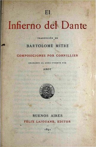 La primera traducción de Bartolomé Mitre.