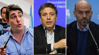 Javier Iguacel, Nicolás Dujovne y Guillermo Dietrich.
