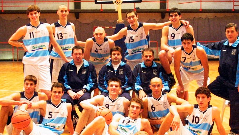 Uno de los equipos argentinos juveniles en los que Vay fue integrante (Foto: Marcelo Figueras-CABB)