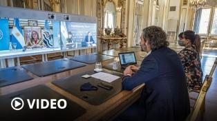 Cafiero firmó un convenio con Alicia Kirchner para establecer el GDE en Santa Cruz