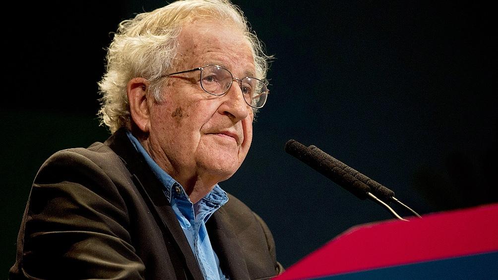 Noam Chomsky, uno de los promotores de la Internacional Progresista que se desarrolla desde hoy en forma virtual.
