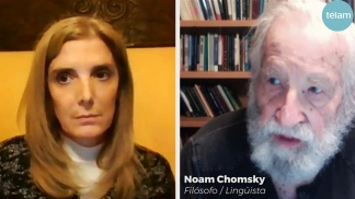 Chomsky dialogó con Bernarda Llorente.