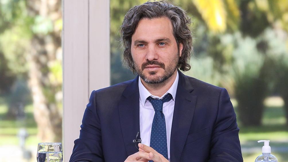 """El jefe de Gabinete Santiago Cafiero, acusó a Esteban Bullrich de """"romper un consenso básico de la democracia""""."""
