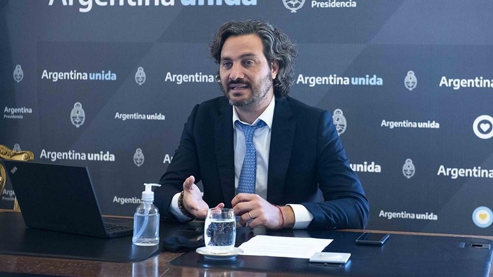 """El jefe de Gabinete, Santiago Cafiero, pidió a la oposición que """"deje de hacer política en formato de trolls y noticias falsas""""."""