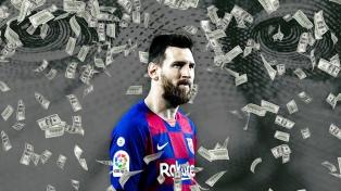 Lionel Messi es el futbolista que más dinero ganó en 2020