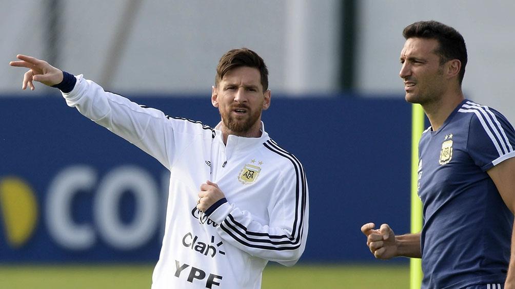 Messi y Scaloni, ante una nueva aventura, en la que intentarán llevar a la Argentina a un nuevo Mundial (foto archivo)