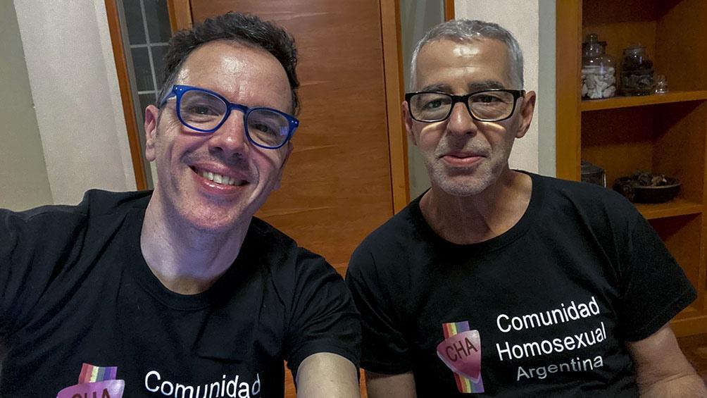César Cigliutti junto al nuevo presidente de la CHA, Pedro Paradiso Sottile