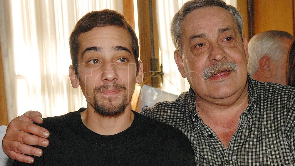 Francisco Madariaga Quintela junto a su padre, Abel Madariaga.