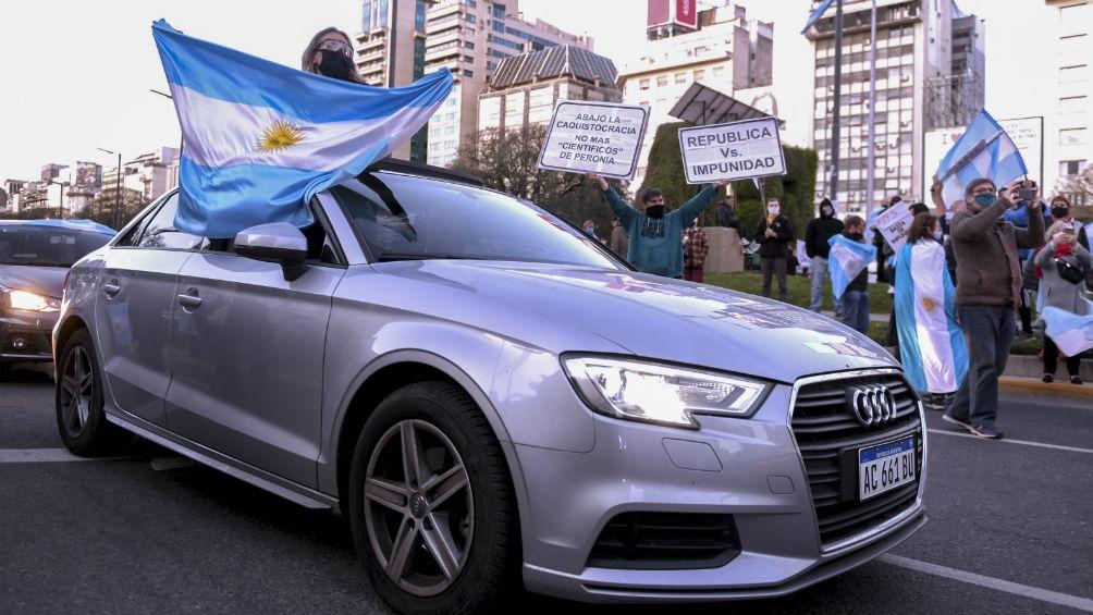 En la Ciudad de Buenos Aires una de las concentraciones fue en el Obelisco.