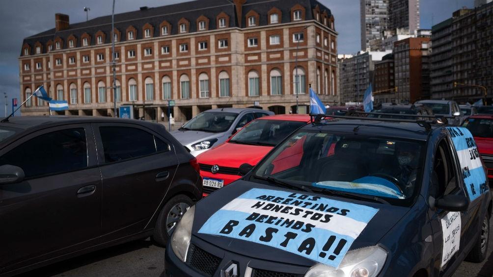 Otras de las ciudades con protestas fue Mar del Plata
