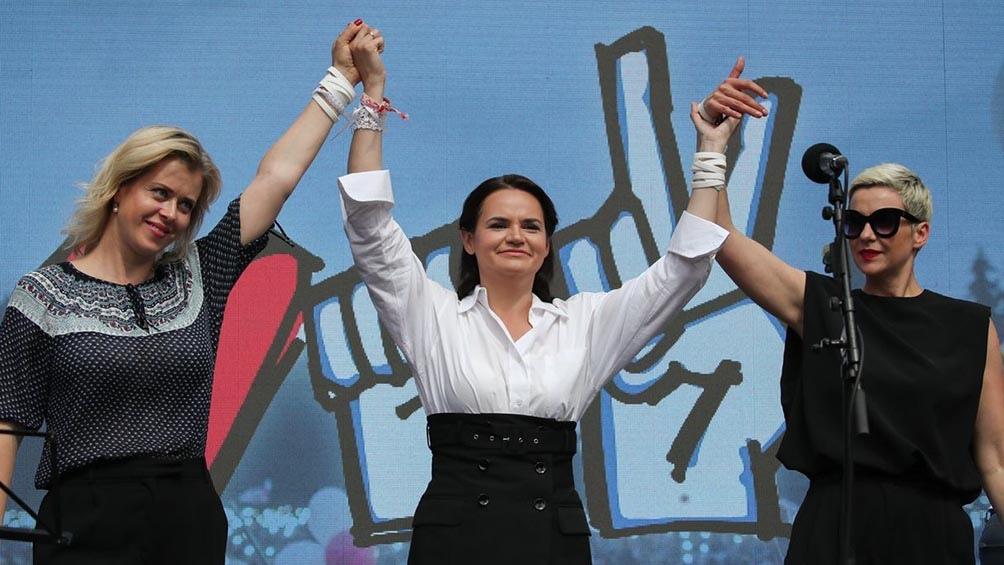 La líder opositora Tijanóvskaya convocó este domingo a una huelga general