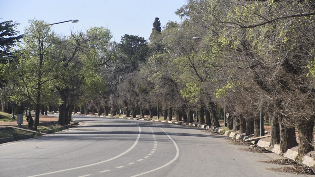 Calles vacías para evitar contagios.