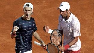 Schwartzman se clasificó a la final del Masters 1000 de Roma y va por Djokovic