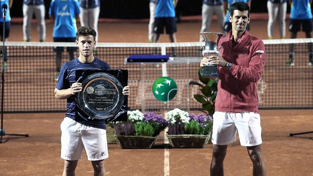 En la final de Roma, cayó ante el número 1, Novak Djokovic.